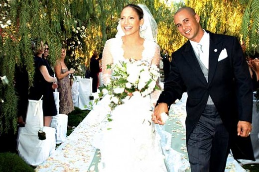Jennifer Lopez and Chris Judd at their wedding