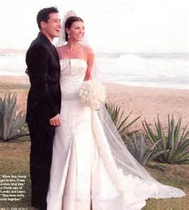 Lopez and Landry on their wedding