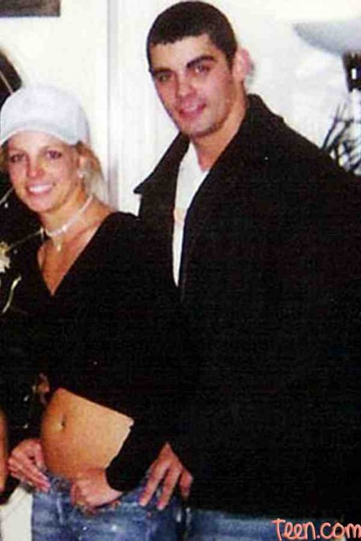 Spears and Alexander at their wedding
