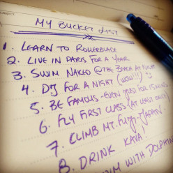 The Proper Way to Write a Bucket List