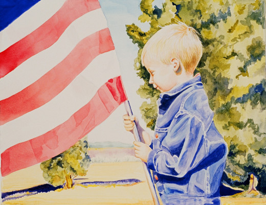 """Liberty's Child"" watercolor on paper 11x14"""