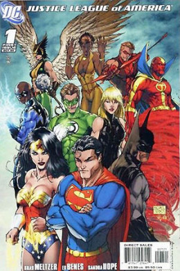 New 52? Bah humbug.  A better version of the Justice League of America (art by Michael Turner)