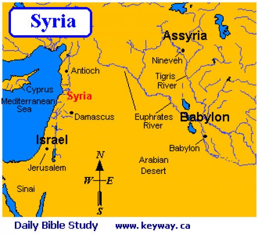 Isaac's wife Rebekah was a 'Syrian' from Padan-aram - map - study, by Wayne Blank