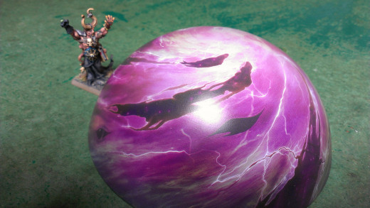 A Chaos Sorcerer cast the dreaded purple sun, now which way to send it?