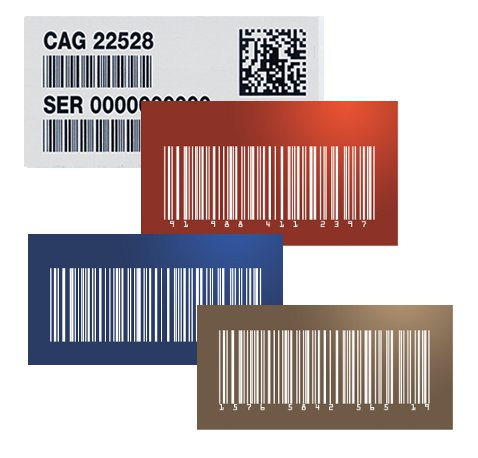 Inventory and Asset Tags - Barcode and UID Plates and Tags
