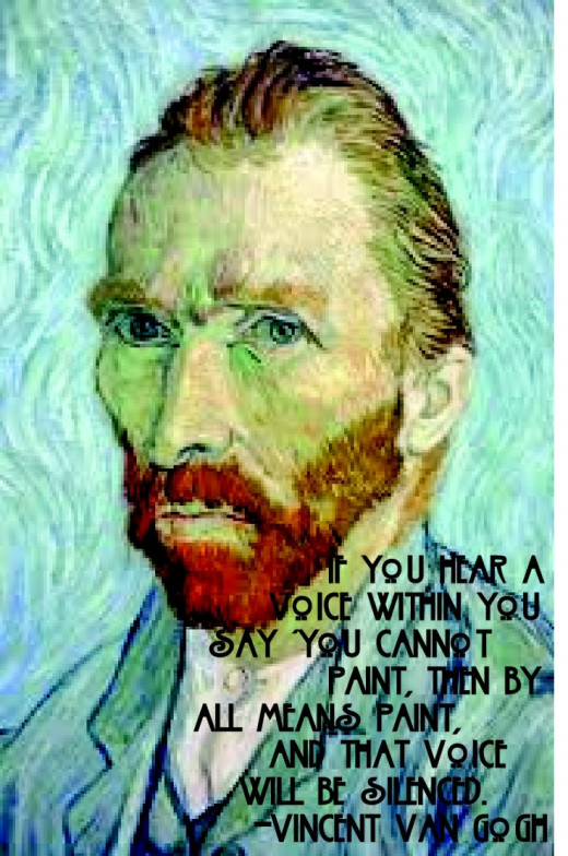This is considered fair and legal use because the painting is public domain. Anyone can frame it, change the colors, add any text they want and still be considered fair use. Of course, van Gogh could be rolling over in his grave ....