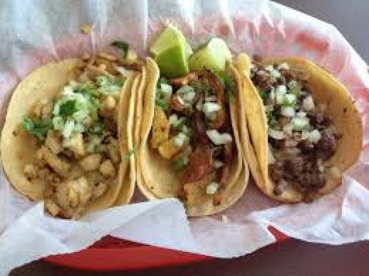 Chicken, Pork, and Beef Tacos - This sort of meal is one of my favorite sorts of meals which includes meat