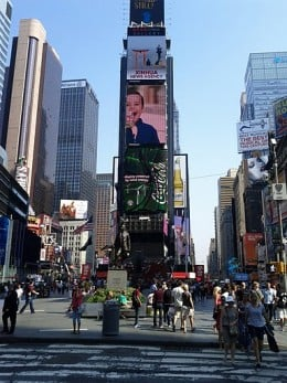 Times Square at Dinner Time by Digimint