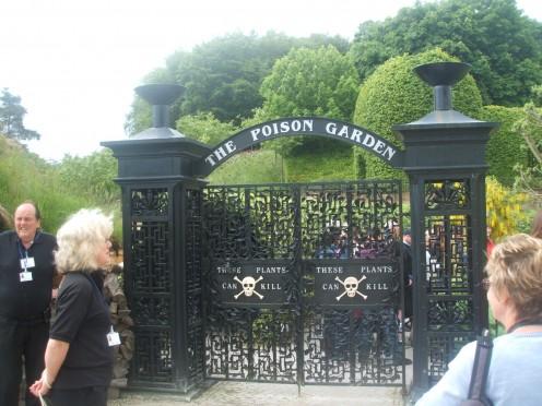 The Poison Garden Gates.  ENTER IF YOU DARE!