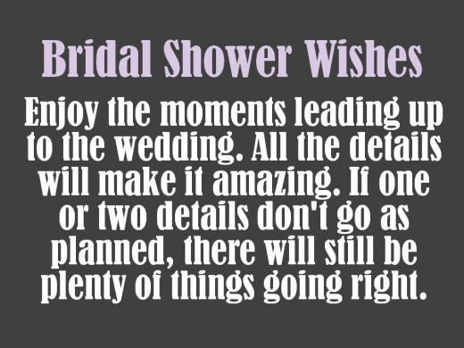 encouraging bridal shower wishes