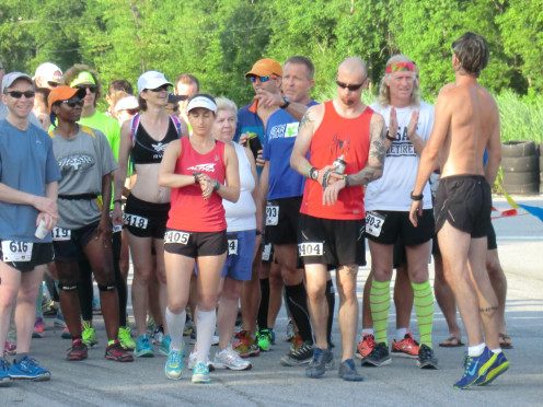 Ultra runners preparing for the start of the Great Savannah Endurance Challenge