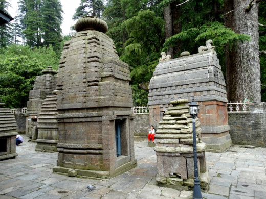 Beautiful stone built temples in the Nagara style