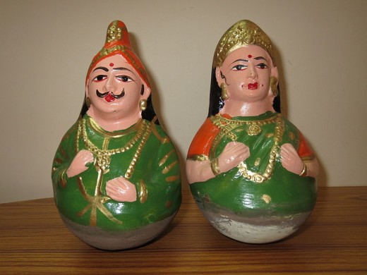 Tanjore dolls of Clay