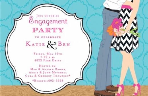 Wedding Engagement Invitation