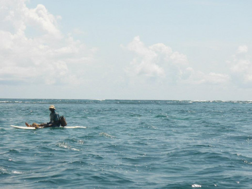 Picture of a man off the Kenyan Coastline