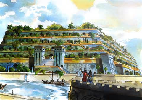 Idealized picture of the Hanging Gardens