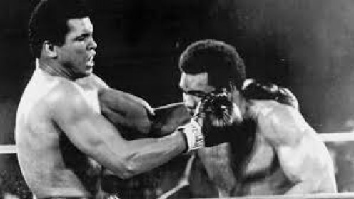 Muhammad Ali defied the odds and knocked Big George Foreman out in the 8th round the regain the heavyweight crown.
