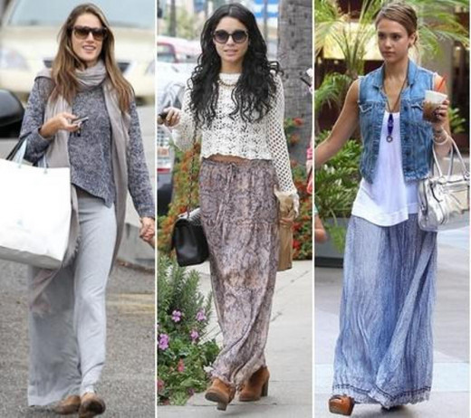 style tips on how to wear a maxi skirt