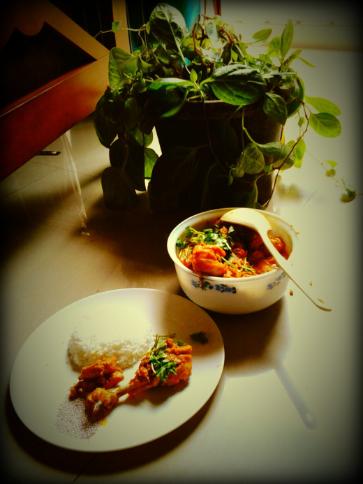 The romance of home made chicken curry...