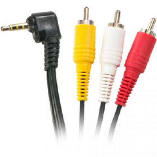 You will need a cable like this - If you have a camcorder you will have one that came with it.