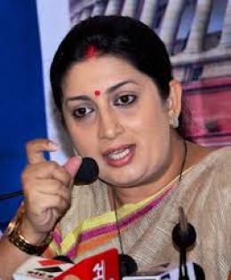 Smriti Irani, HRD Minister, India.