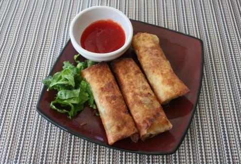 Delicious shrimp spring rolls
