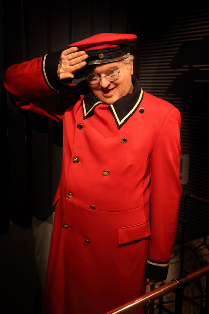 Benny Hill providing service with a smile!