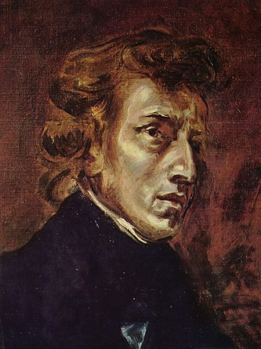 A portrait of Chopin by Delacroix dating from 1838