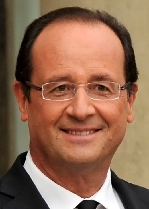 François Hollande (above) is the current President of France. Barack Obama (below) is the current President of the United States.