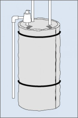 Insulation Blanket on an Electric Storage Water Heater-Courtesy U.S. Department of Energy