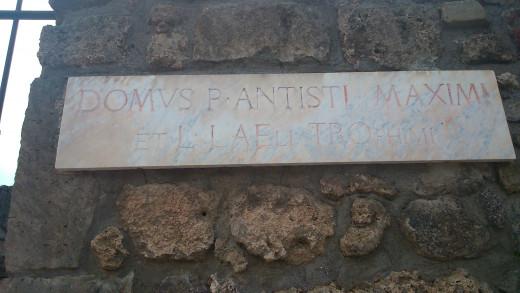 Old street placard, Pompeii