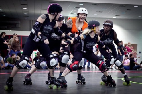 The Pack During Roller Derby Jam