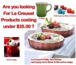 Buy Le Creuset Mugs or one of their Other Quality Items costing under $25