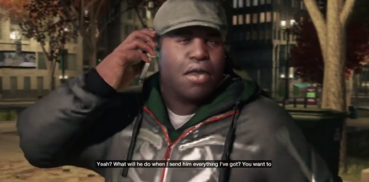 Aiden spectacularly freaks out Tyrone at the end of the Uninvited mission of Watch_Dogs. Nothing like anonymous phone calls to mess with a low-level criminal.