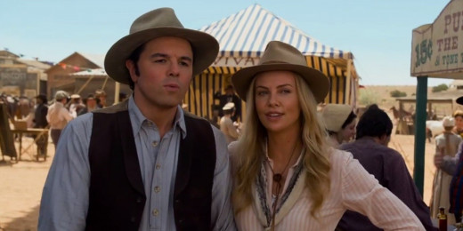 Seth MacFarlane and Charlize Theron star in the comedy A Million Ways to Die in the West