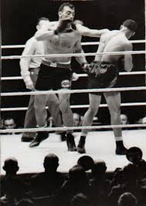 Joe Louis showed his crushing power by mowing down Italian Primo Carnera.