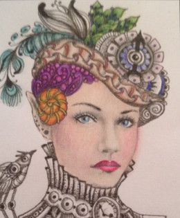 Drawn by Norma J. Burnell, colored by me!