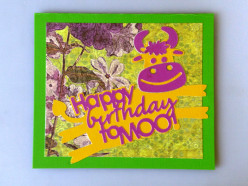 "Easy to Make Happy Birthday to ""Moo"" using your Cricut machine"