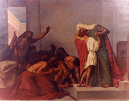 Joseph reveals himself to Benjamin and other brothers in Eqypt