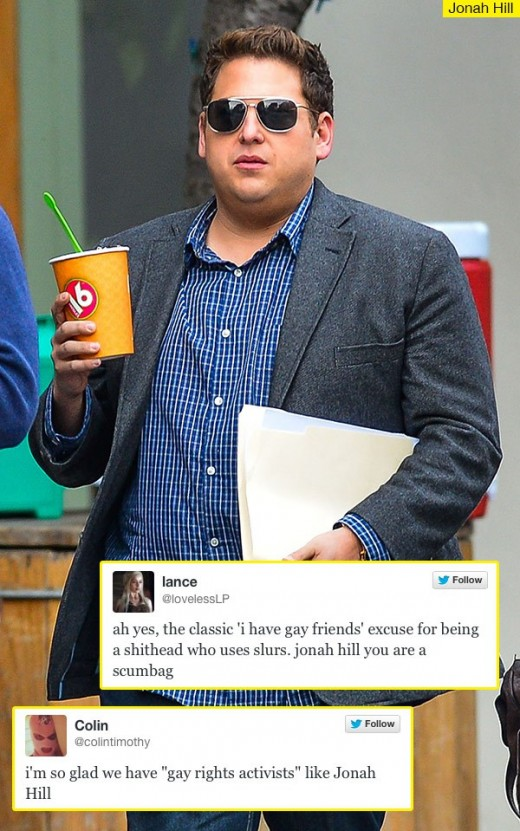 upset with Jonah Hill
