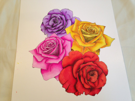 Roses I colored with alcohol markers.