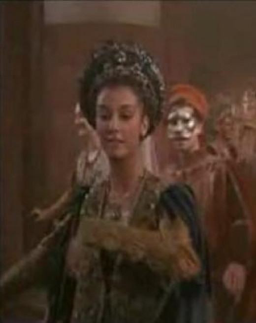 Rosaline in a rare on-screen appearance, which adds nothing to the story whatsoever!