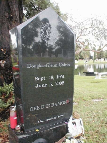 Dee Dee Ramone's Grave at Hollywood Forever Cemetery in Los Angeles, CA.