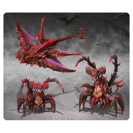 Figures of Destoroyah's earlier forms
