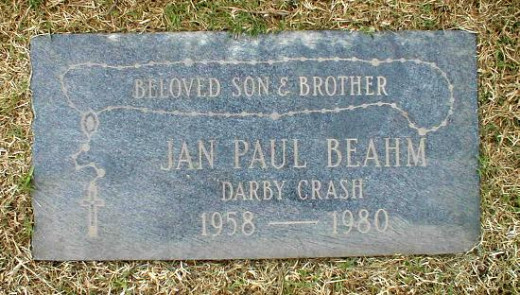 Germs vocalist Darby Crash's Grave Marker at Holy Cross Cemetery in Culver City, CA.