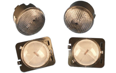 Picture of a clear parking and turn signal lighting kit.