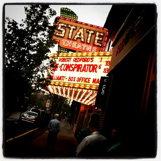 There's nothing like the swirling glow of the State  Theater's marquee at night in downtown Traverse City.