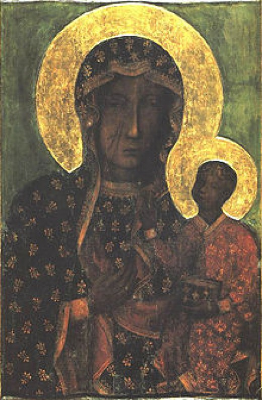 Known to locals as Our Lady of Częstochowa, scholars question the subject of the painting. Is it Madonna whose stare seems to question the viewer's soul? Is it the Christ child with blunt affect and dismissive eyes?