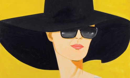 Black Hat- painting by Alex Katz