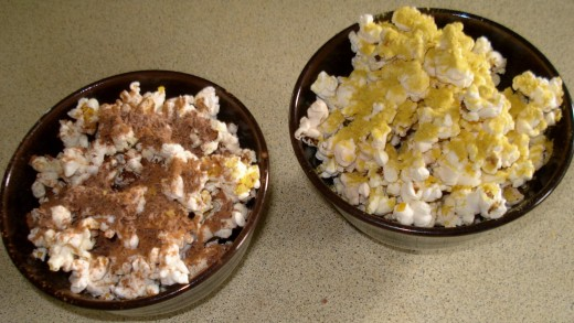 Now Which Shall it be?  Cinnamon and Chocolate shavings  or Savoury Yeast Flakes?